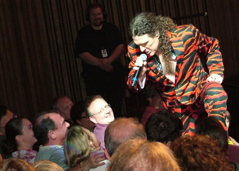 """Weird Al"" Yankovic gets up close and personal during ""Wanna B Ur Lovr"""