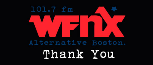 WFNX thank you